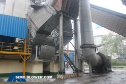 Application of industrial Centrifugal air blower fan in cement production line